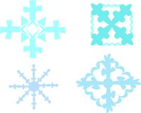 Mix of Snowflakes Stock Photo