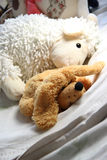 Mix of soft toys in the children room Royalty Free Stock Photo