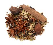 Mix of spice Cinnamon Royalty Free Stock Image