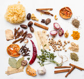 Mix spices background. Royalty Free Stock Photo