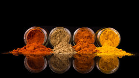 Mix Spices On Black VIII Royalty Free Stock Photos