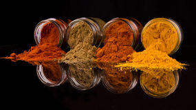 Mix Spices On Black XII Royalty Free Stock Image