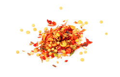 Mix of spices isolated. Royalty Free Stock Image