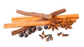 Mix spices isolated. On white background stock photography