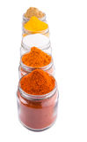 Mix Spices And Salt On White II Stock Photography