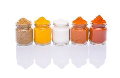 Mix Spices And Salt On White III Royalty Free Stock Images