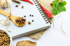 Mix spices on white background. Stock Images
