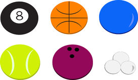 Mix of Sports Balls Stock Photography