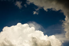 Mix of storm clouds Royalty Free Stock Photography