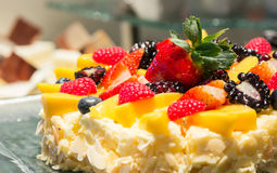 Mix strawberry fruit cheese cake Royalty Free Stock Photography