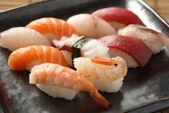 Mix Sushi. Japanese Food Sushi plate mix Royalty Free Stock Image
