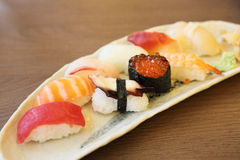 Mix sushi Royalty Free Stock Photography