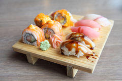 Mix sushi Stock Image