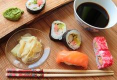 Mix of sushi Royalty Free Stock Image