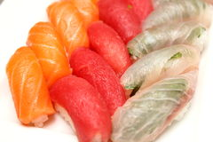 Mix sushi of salmon tuna Stock Photo