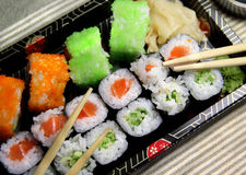 Mix of sushi specialties Stock Image