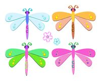 Mix of Sweet Dragonflies Royalty Free Stock Photo