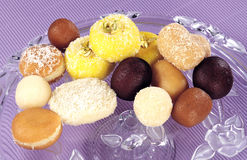 Mix Sweets on Voilet Royalty Free Stock Photos