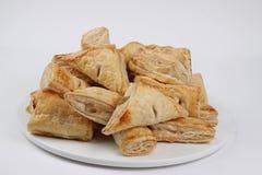 Mix taste of pies on white plate Royalty Free Stock Photos