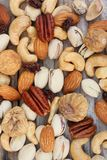 Mix of tasty nuts Royalty Free Stock Photography
