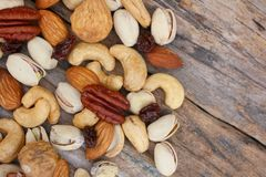 Mix of tasty nuts Royalty Free Stock Photos