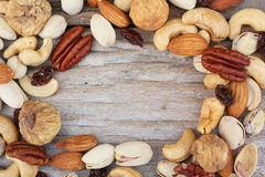 Mix of tasty nuts Stock Images