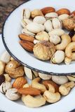 Mix of tasty nuts Royalty Free Stock Image