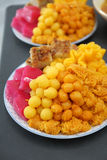 Mix Thai desserts in dish Royalty Free Stock Photography