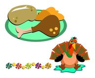 Mix of Thanksgiving Images Royalty Free Stock Photos