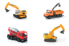 Mix toy construction transport collection set. Royalty Free Stock Images