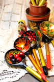 Mix of traditional Russian Souvenirs Stock Image