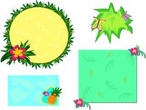 Mix of Tropical Frames and Plants Stock Photography