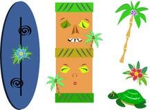 Mix of Tropical Life Royalty Free Stock Photos