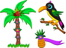 Mix of Tropical Pictures Stock Image