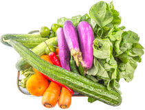 Mix Tropical Vegetables Isolated VII Stock Photo