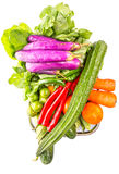 Mix Tropical Vegetables Isolated XI Stock Photo