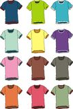 Mix tshirt. Consisting of many different colors of men's T-shirt graphic design Royalty Free Stock Photos