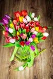 Mix of tulips flowers Stock Photo