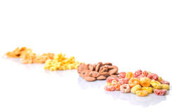 Mix Variety Of Breakfast Cereals  IV Stock Images