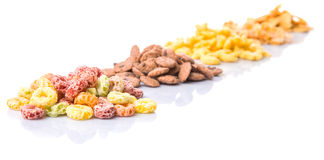 Mix Variety Of Breakfast Cereals  V Royalty Free Stock Photography