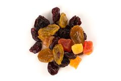 Mix variety of dried fruit Stock Images