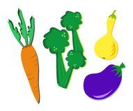Mix of a Variety of Vegetables Royalty Free Stock Photo