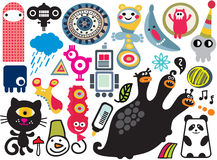 Mix of vector images and icons. vol.17. Mix of different vector images and icons Royalty Free Stock Photo