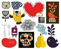 Mix of vector images and icons. vol.71 Royalty Free Stock Image