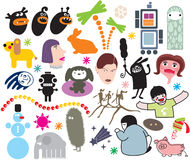Mix of vector images. vol.5. Mix of different vector images Stock Images