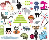 Mix of vector images. vol.3 Stock Image