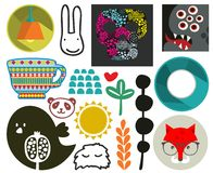 Mix of vector images. vol.73 Stock Photo