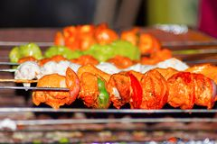 Mix Veg Tikka, Pune, India. Close view of Mix Veg Tikka, Pune, India Stock Image