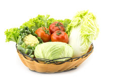 Mix vegetable in basket Stock Photography