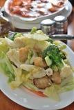 Mix vegetable fish Royalty Free Stock Photos